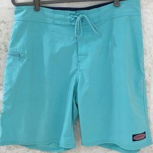 Vineyard Vines {S/33} Swim Shorts Trunks Aqua Blue